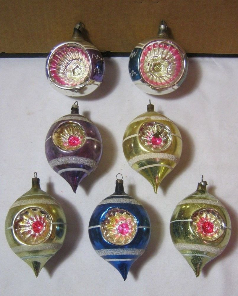 Antique Christmas ornaments Fresh Antique Glass Christmas ornaments Lot Of 7 W Star Design Of Amazing 41 Pics Antique Christmas ornaments