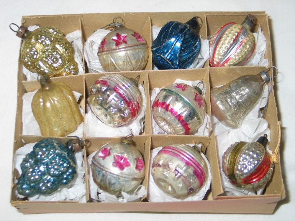 Antique Christmas ornaments Inspirational Antique Embossed Mercury Glass Christmas Feather Tree Of Amazing 41 Pics Antique Christmas ornaments