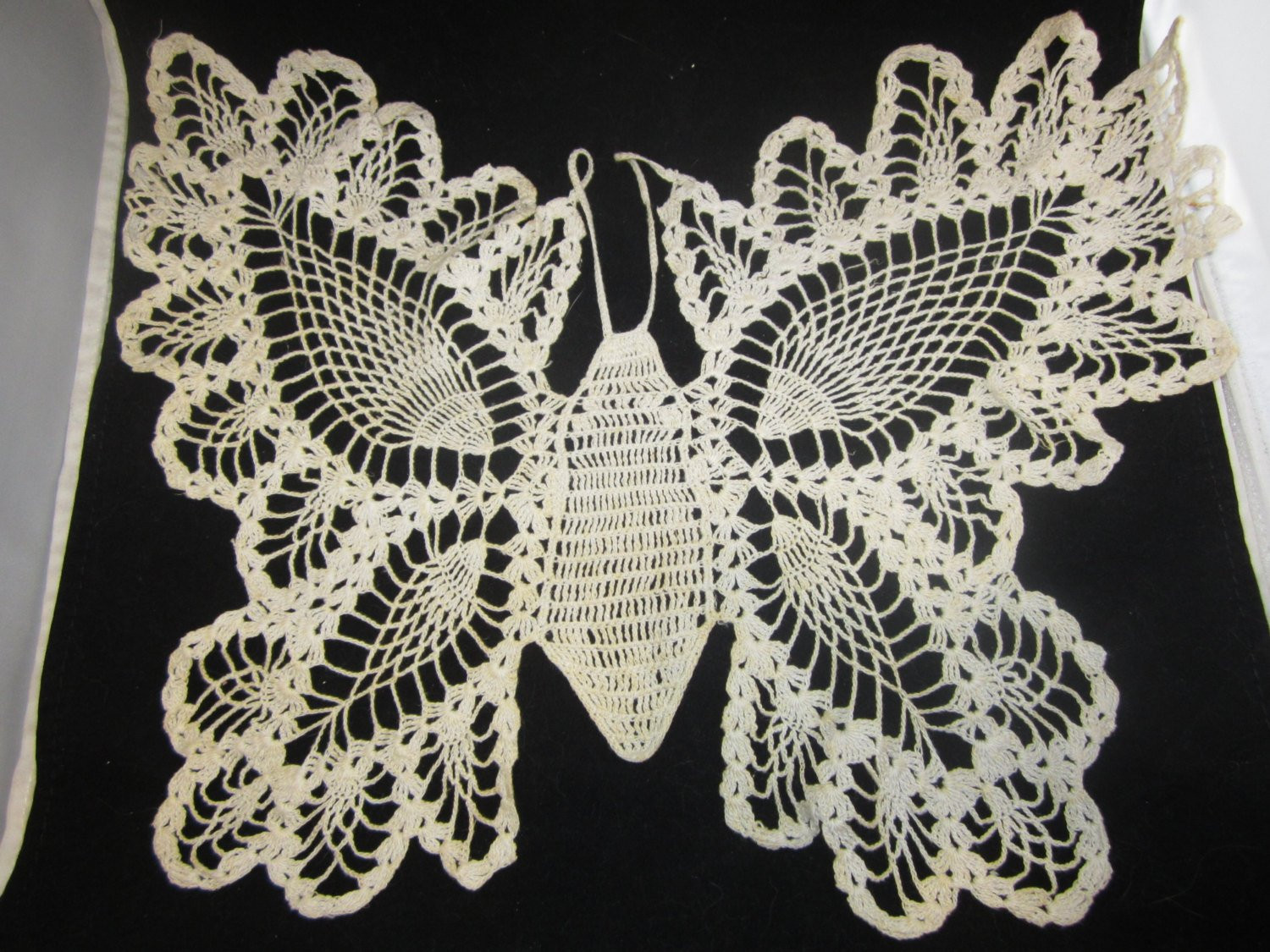 Antique Doilies Beautiful Crochet Lace Doily butterfly In Pineapple Design Antique Linen Of Wonderful 44 Models Antique Doilies