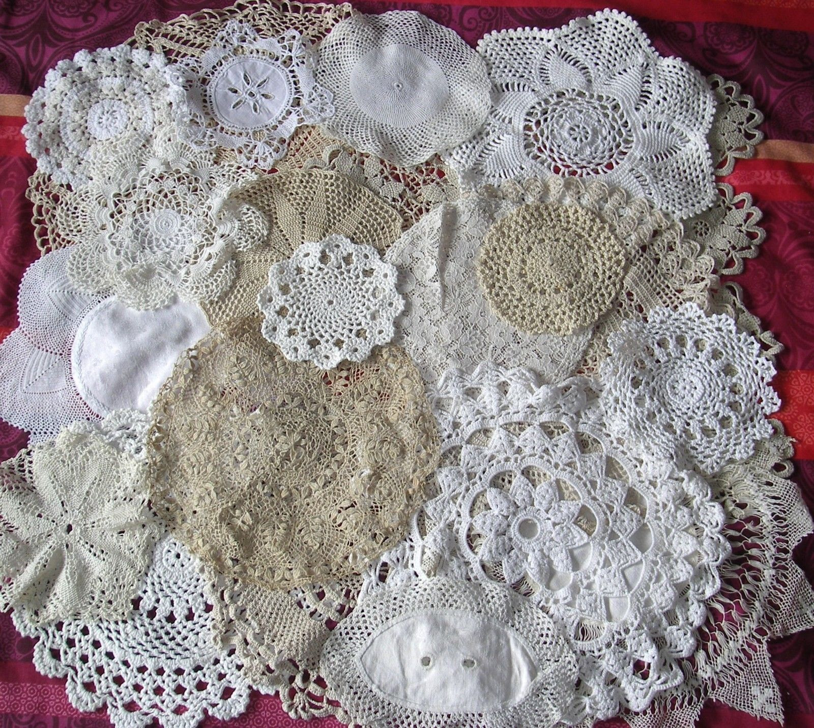 Antique Doilies Elegant 20 X Vintage Doilies Mats Crochet Lace Job Lot White Ivory Of Wonderful 44 Models Antique Doilies