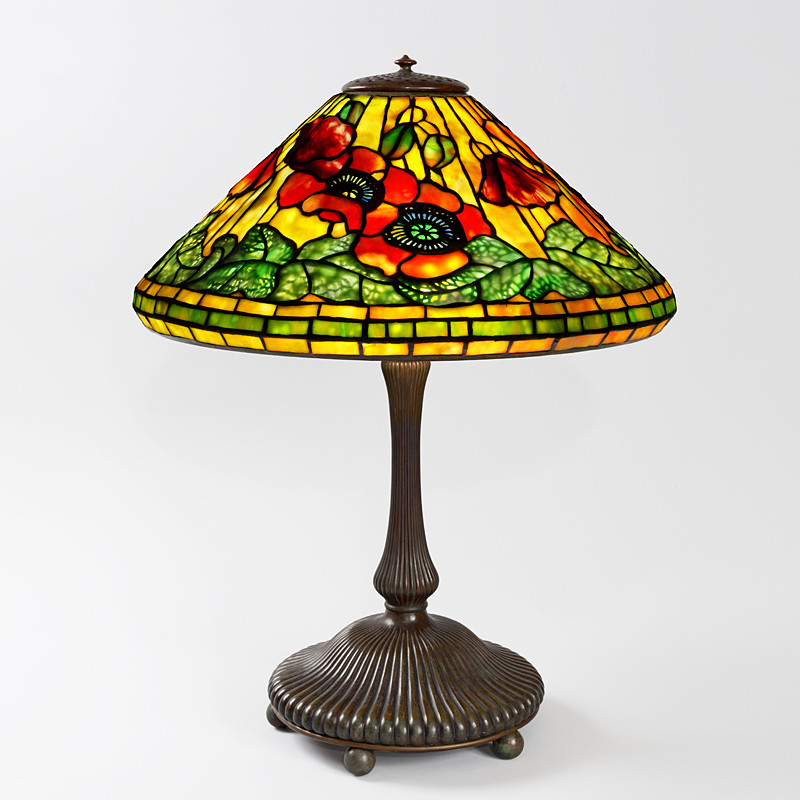 "Antique Tiffany Lamps Inspirational ""wire Mesh Poppy"" Tiffany Lamp Of Amazing 47 Photos Antique Tiffany Lamps"