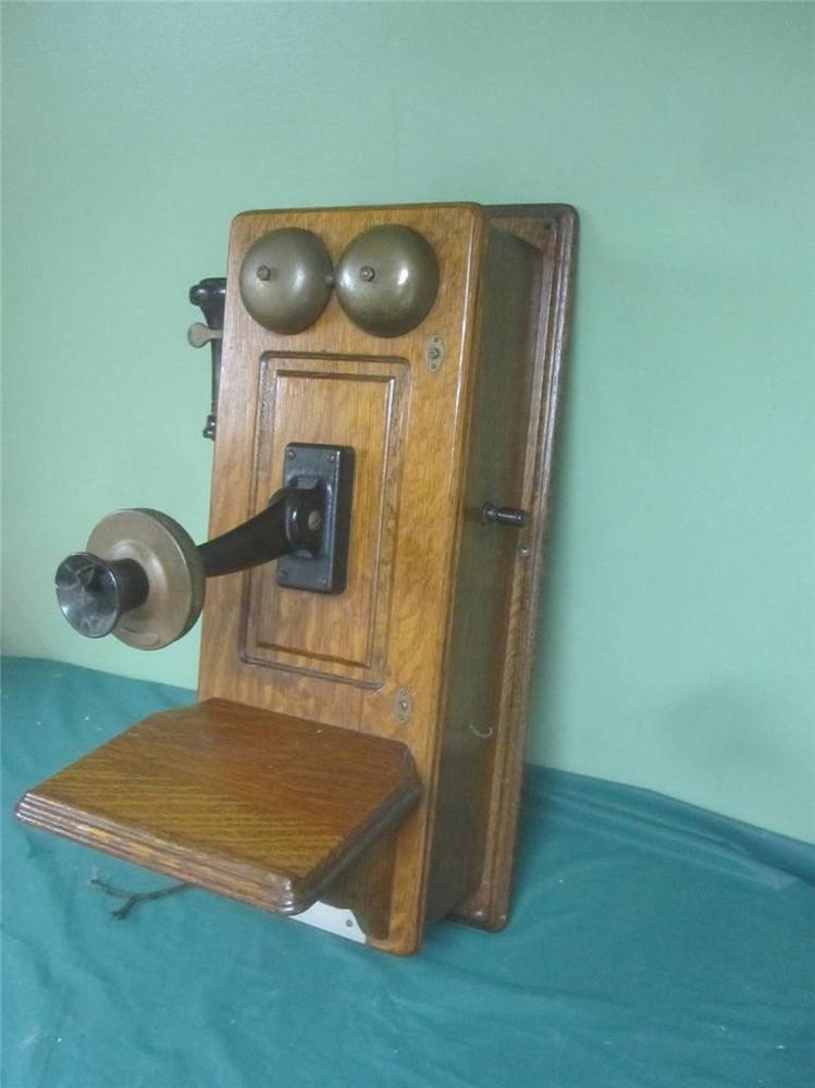 Antique Wall Phone Fresh Antique 1894 Western Electric Oak Wall Telephone W Hand Of Gorgeous 50 Ideas Antique Wall Phone