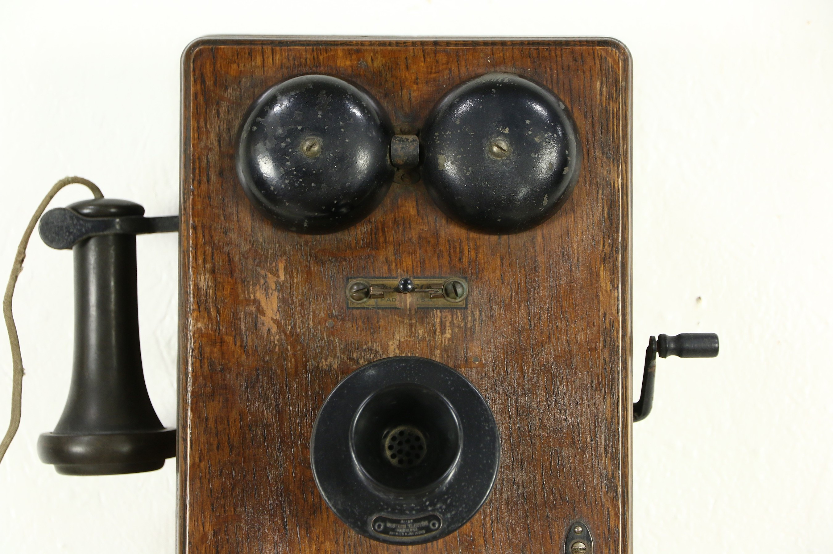 Antique Wall Phone Luxury sold Oak Antique Crank Wall Phone Signed Western Of Gorgeous 50 Ideas Antique Wall Phone