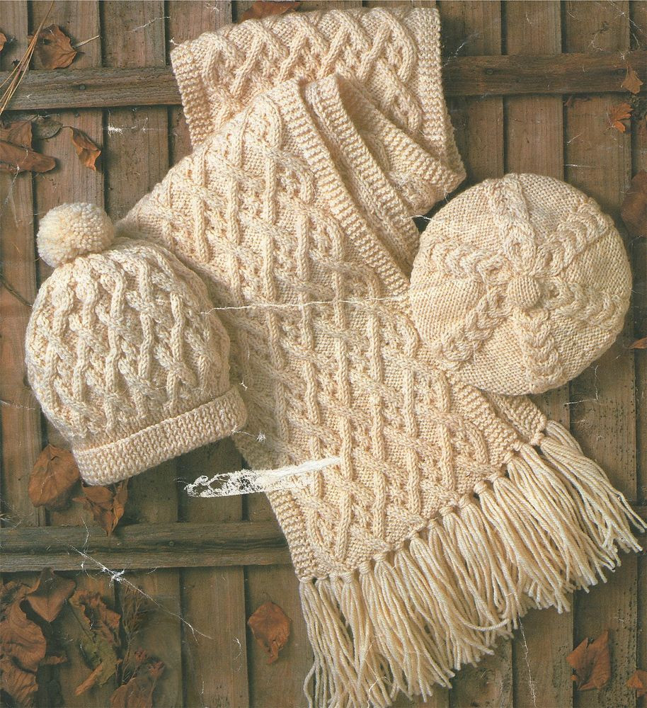 Aran Knitting Patterns Inspirational La S Mens & Childs Hat Scarf & Beret for the Family Of Top 41 Models Aran Knitting Patterns