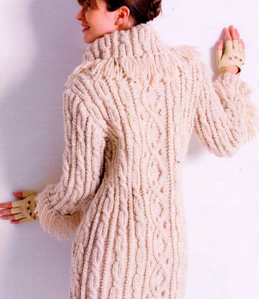 Aran Knitting Patterns Lovely Womans Aran Cable Bobble 3 4 Coat Fringed Collar Cuffs 32 Of Top 41 Models Aran Knitting Patterns