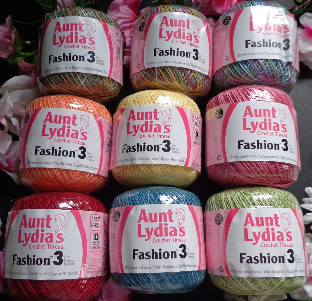Aunt Lydia's Crochet Thread Awesome Aunt Lydia S Fashion Crochet Thread Size 3 Color Select Of Charming 35 Models Aunt Lydia's Crochet Thread