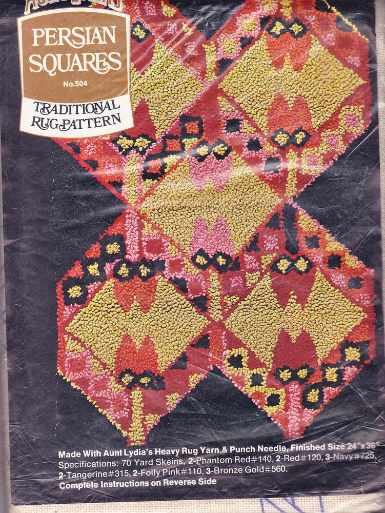 Aunt Lydia's Yarn Beautiful Aunt Lydia S Rug Pattern Persian Squares No 504 Punch Of New 44 Photos Aunt Lydia's Yarn
