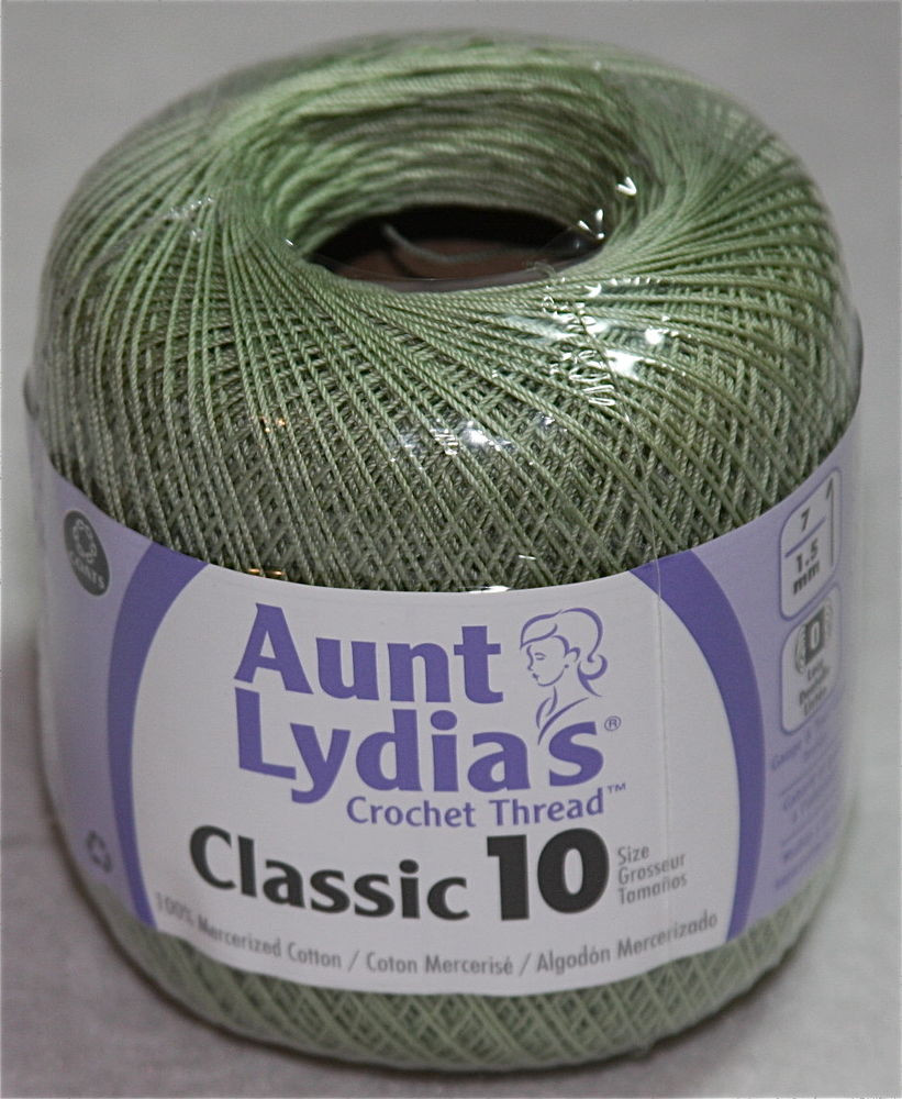 Aunt Lydia s Classic Size 10 Crochet Thread 350 Yards