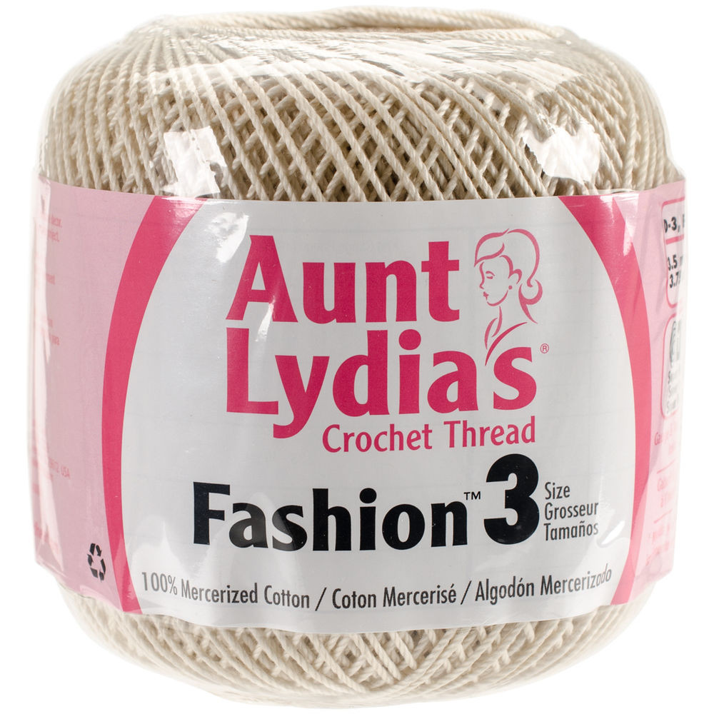 """Aunt Lydia s Fashion Crochet Thread Size 3 Natural Set"