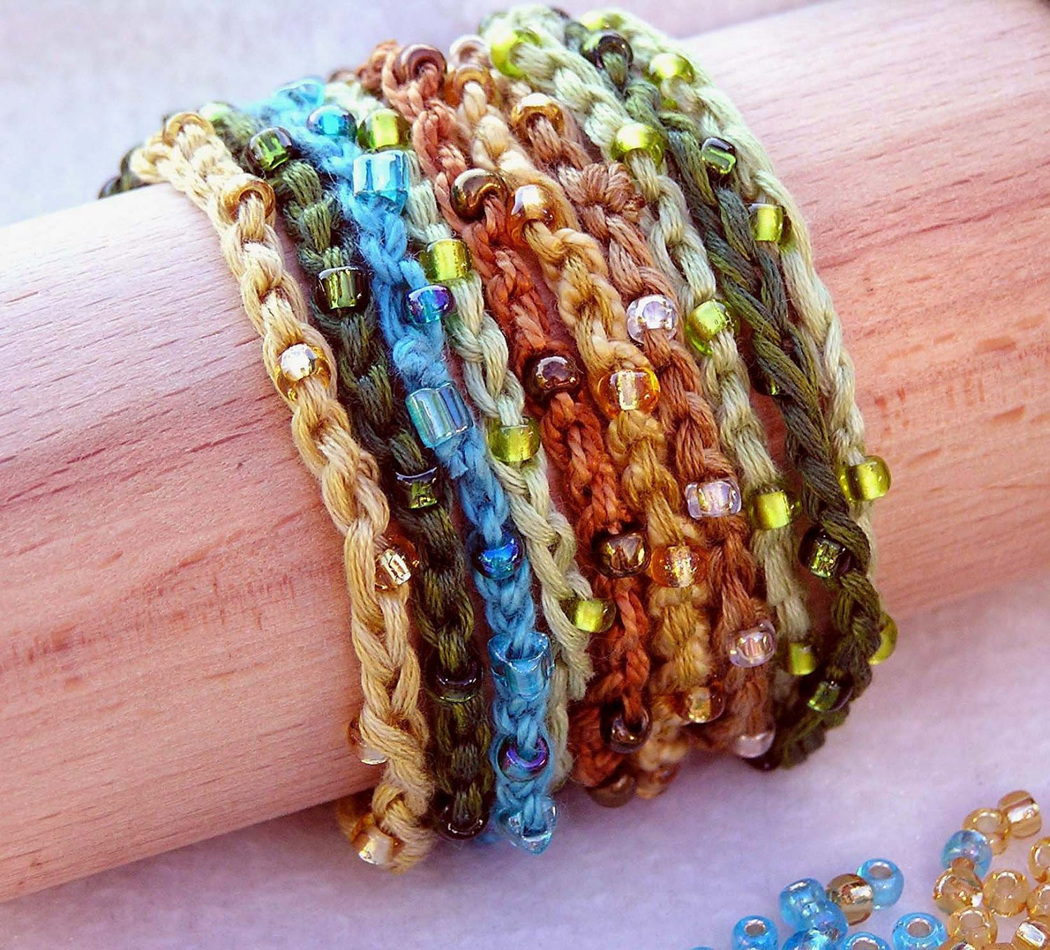 Awesome 1 2 3 Stackers Beaded Crocheted Bracelets and Necklaces Crochet Bracelet Patterns Of New 40 Pictures Crochet Bracelet Patterns