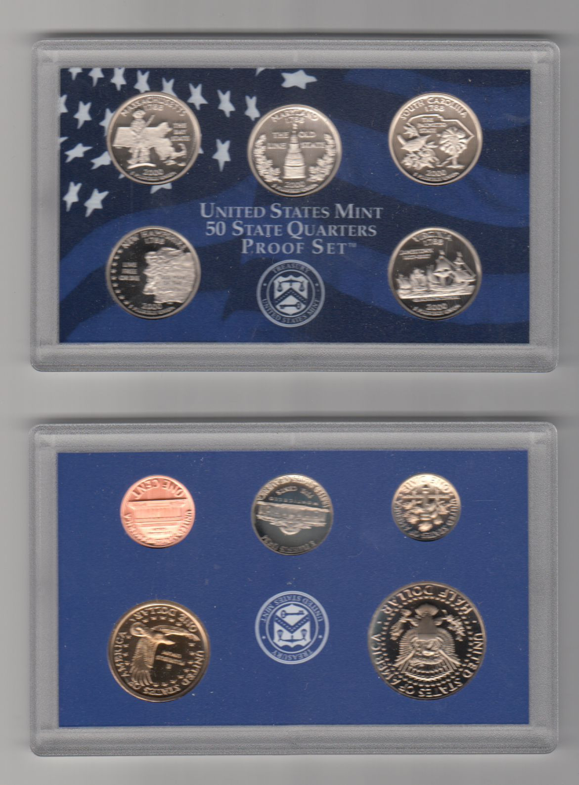 Awesome 10 Coins 50 State Quarters Proof Set Us Mint 2000 State Quarter Set Value Of New 2007 P & D United States Mint Uncirculated Coin Set State Quarter Set Value