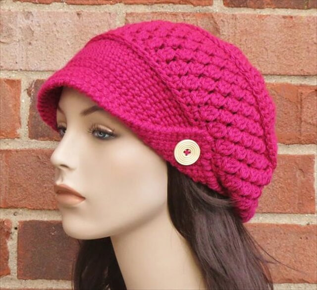 Awesome 10 Diy Crochet Hats Crochet Hat with Brim Pattern Of Contemporary 46 Photos Crochet Hat with Brim Pattern