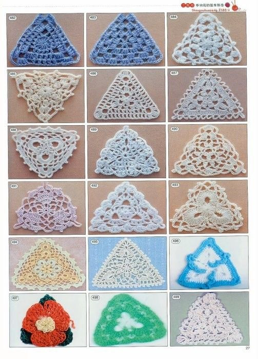 Awesome 10 Images About Crochet Triangle Motifs On Pinterest Crochet Triangles Of Charming 42 Images Crochet Triangles