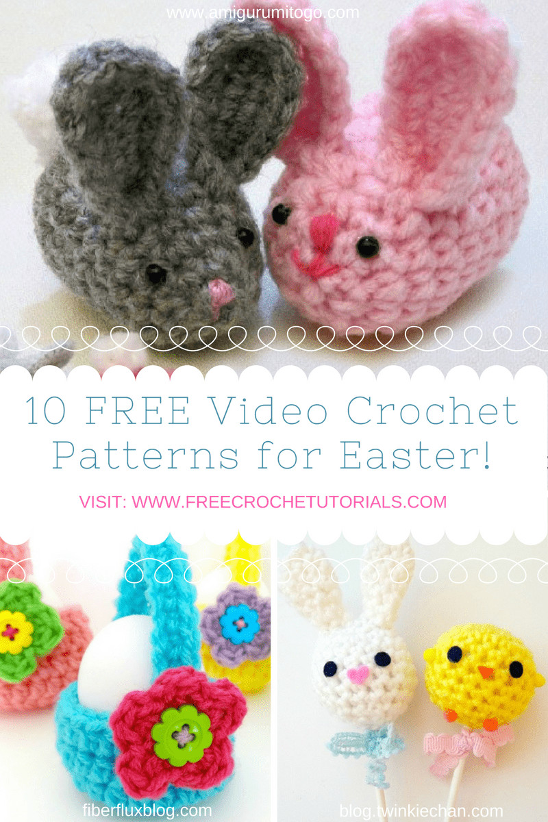 Awesome 10 Super Fun and Free Easter themed Video Crochet Patterns Youtube Free Crochet Patterns Of Unique 42 Models Youtube Free Crochet Patterns