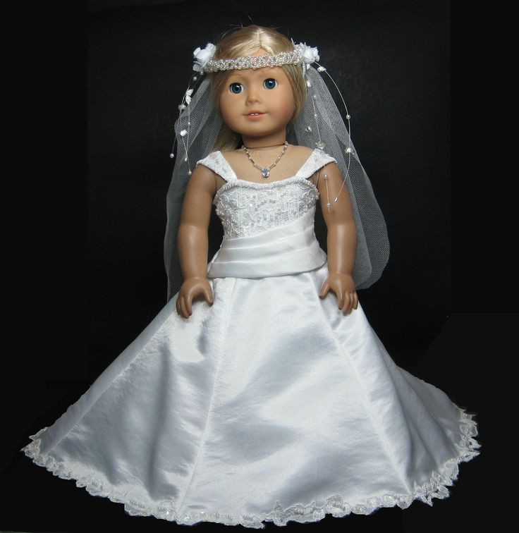 Awesome 1000 Images About American Girl Doll On Pinterest American Girl Doll Wedding Dress Of Inspirational 2015 Romantic Wedding Dress Clothing for Dolls Mini White American Girl Doll Wedding Dress