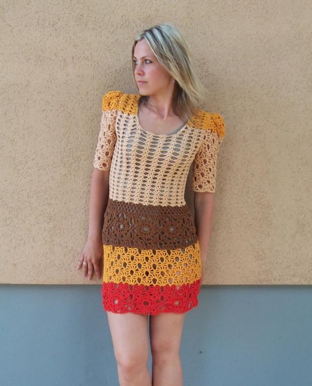 Awesome 12 Crochet Dresses to Challenge Your Skills Crochet Dress Of Awesome 50 Pictures Crochet Dress