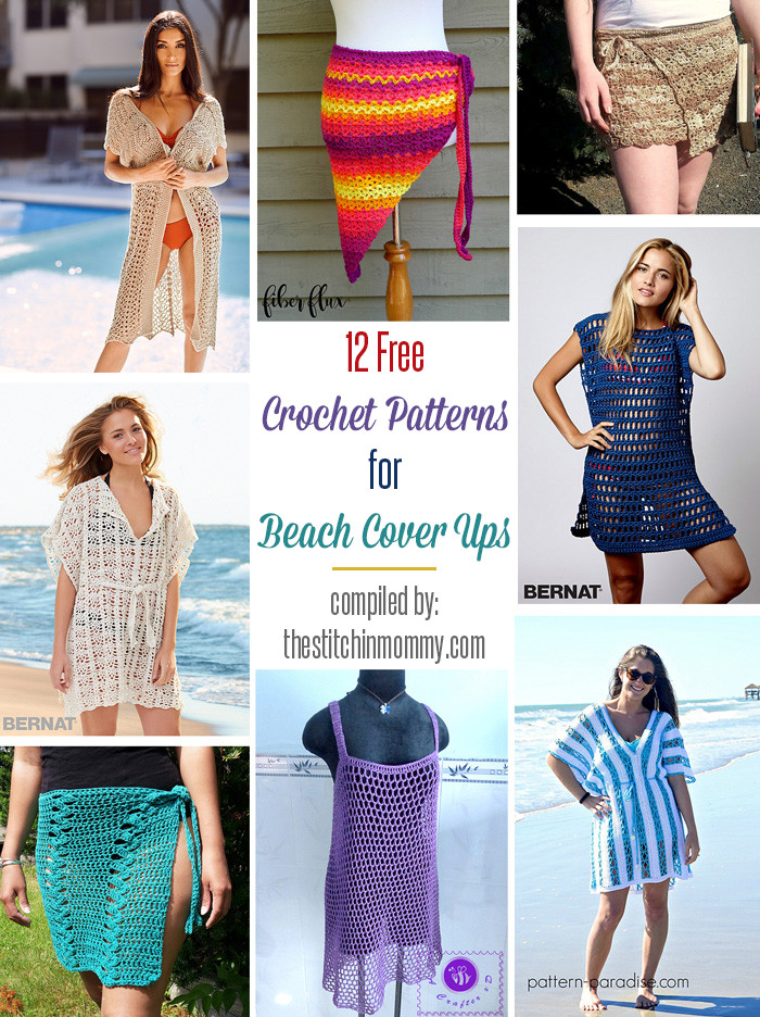 Awesome 12 Free Crochet Patterns for Beach Cover Ups the Crochet Beach Cover Ups Patterns Of Beautiful 40 Models Crochet Beach Cover Ups Patterns