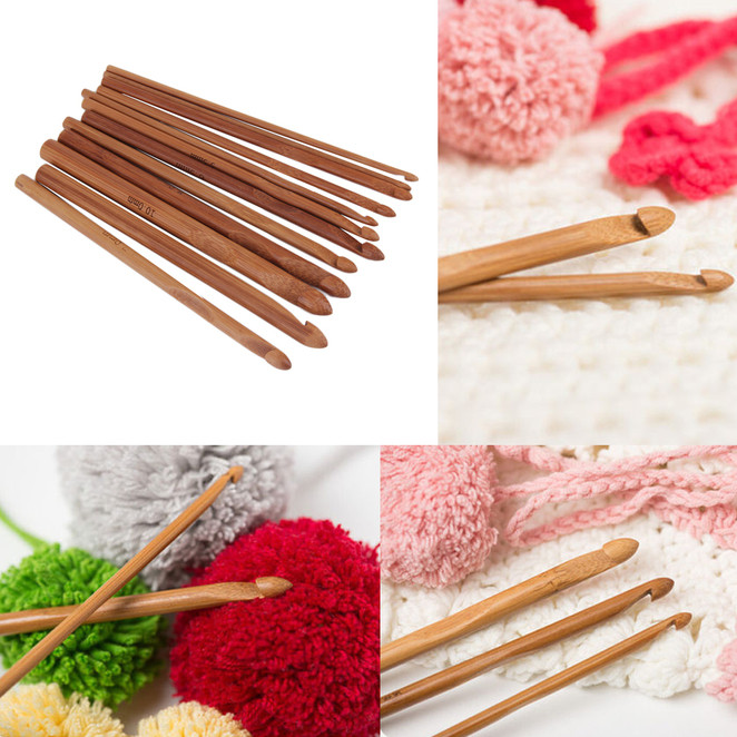 Awesome 12 Size Bamboo Handle Crochet Hook Knit Yarn Craft Knit with Crochet Hook Of Adorable 45 Images Knit with Crochet Hook