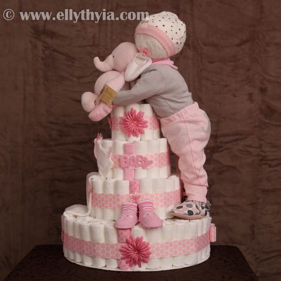 Awesome 12 Super Cute Diaper Cake Ideas for Baby Showers Baby Diaper Cake Ideas Of New 48 Pictures Baby Diaper Cake Ideas