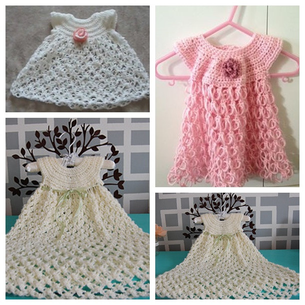 Awesome 16 Patterns for Cute Crochet Girls Dresses Crochet Girl Dress Of Awesome 46 Images Crochet Girl Dress