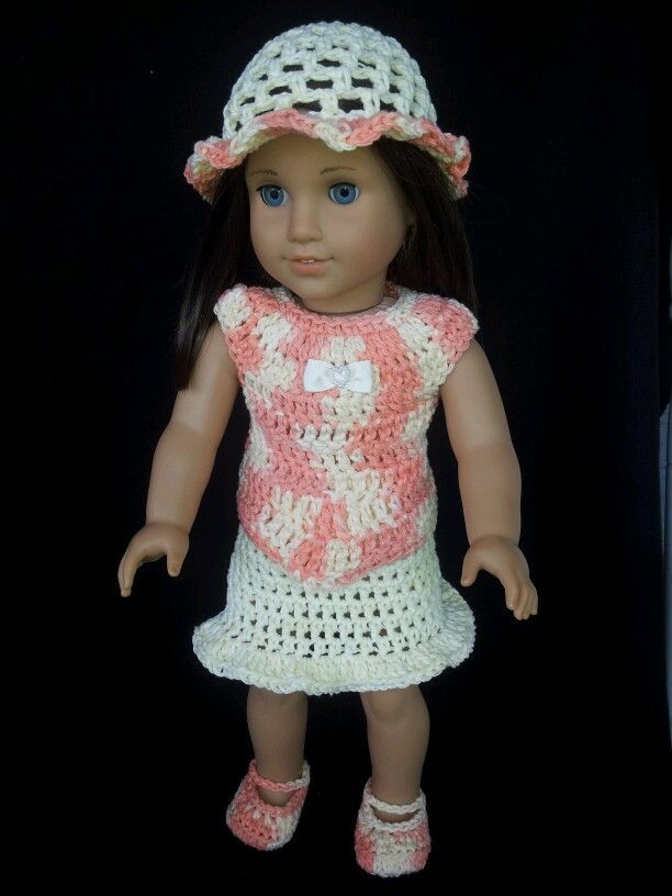 17 Best images about American Girl crocheted clothes on