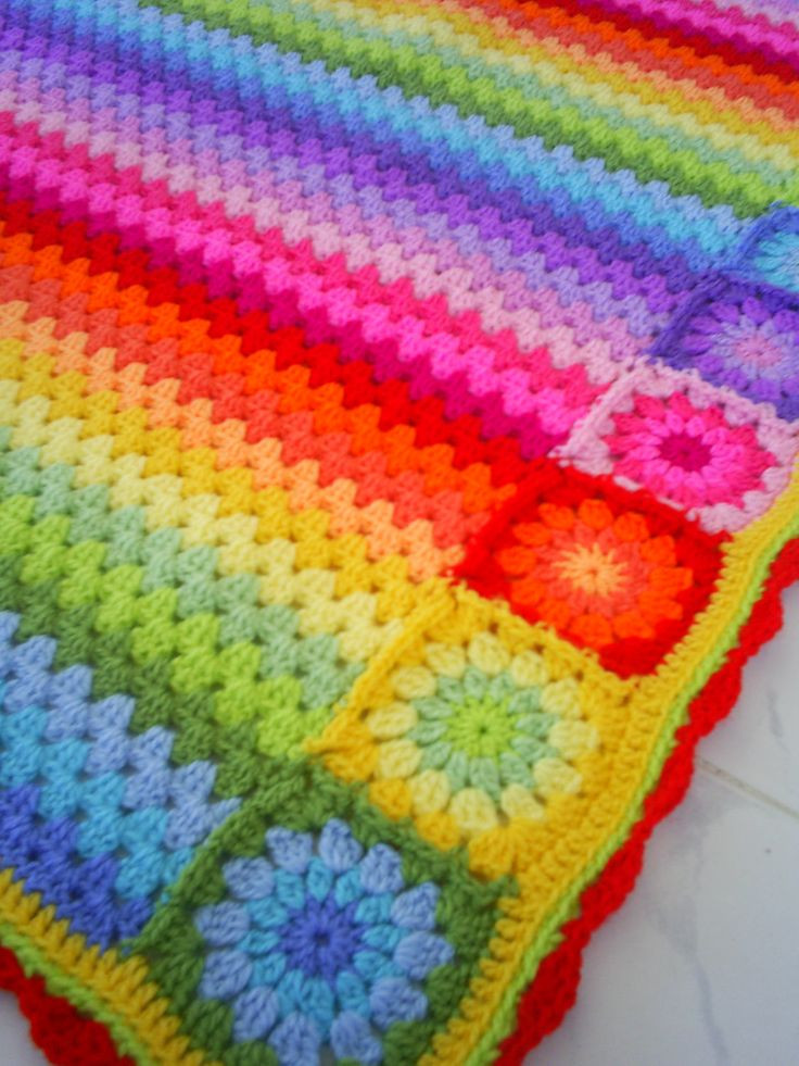 Awesome 17 Best Images About Crochet A Gorgeous Hobby On Rainbow Crochet Blanket Of Great 40 Photos Rainbow Crochet Blanket