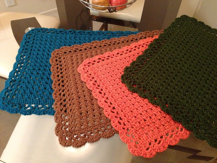 Awesome 17 Best Images About Crochet Placemats and Sets On Crochet Placemat Of Top 40 Pics Crochet Placemat