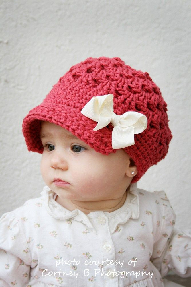 Awesome 17 Best Images About Newsboy Hat On Pinterest Crochet Baby Girl Hat Of Contemporary 45 Pics Crochet Baby Girl Hat