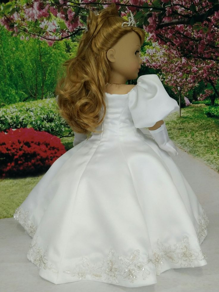 Awesome 17 Images About American Girl Doll Princess Dresses and American Girl Doll Wedding Dress Of Beautiful American Girl Doll Wedding Dress Satin and Silver American Girl Doll Wedding Dress