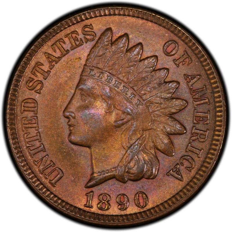 1890 Indian Head Pennies Values and Prices Past Sales