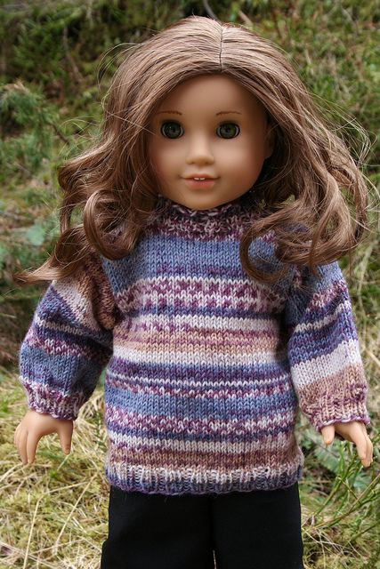 "Awesome 18"" Doll Sweater Free Able Pattern Free Knitting Patterns for American Girl Dolls Of Delightful 41 Models Free Knitting Patterns for American Girl Dolls"