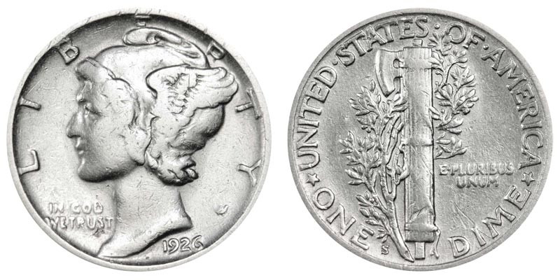Awesome 1926 S Mercury Silver Dimes Value and Prices Mercury Dime Prices Of Superb 49 Ideas Mercury Dime Prices