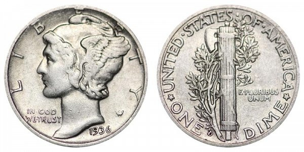 Awesome 1936 D Mercury Dimes Winged Liberty Silver Dime Value and Mercury Dime Prices Of Superb 49 Ideas Mercury Dime Prices