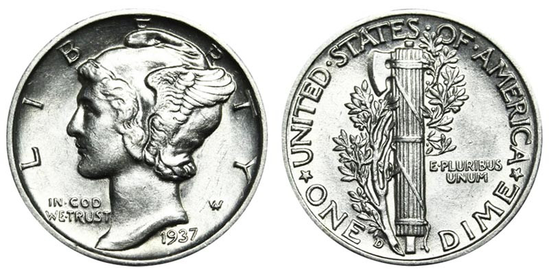 Awesome 1937 D Mercury Silver Dimes Value and Prices Mercury Dime Prices Of Superb 49 Ideas Mercury Dime Prices