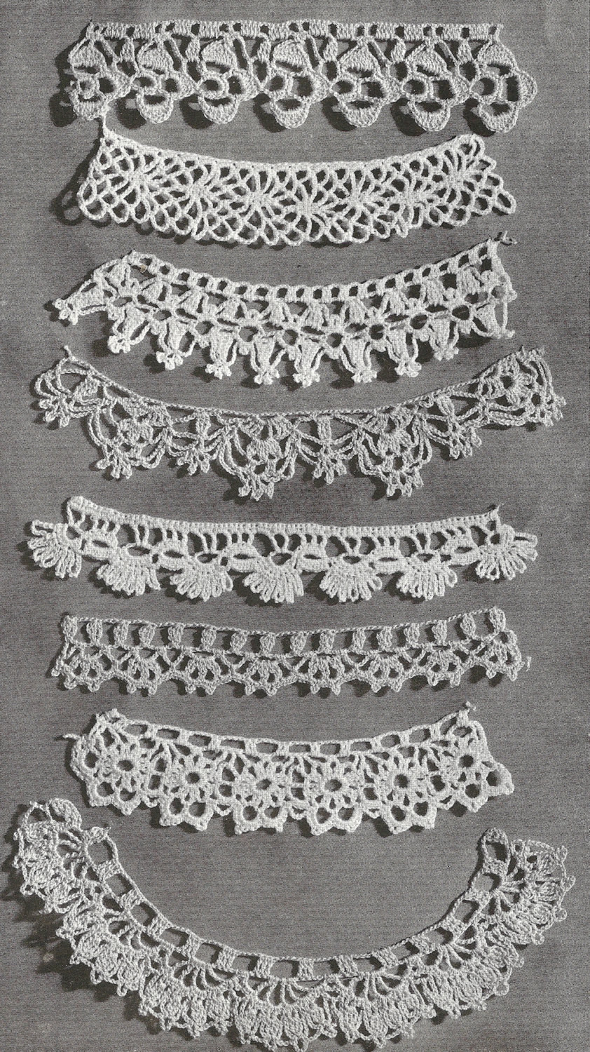 Awesome 1940 Lace Edgings Vintage Crochet Pattern Crochet Lace Edging Pattern Of Amazing 40 Photos Crochet Lace Edging Pattern