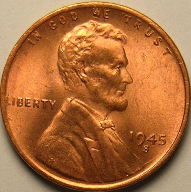Awesome 1945 S Bu Lincoln Wheat Penny Cent Ac 234 Wheat Penny Prices Of Adorable 50 Pics Wheat Penny Prices