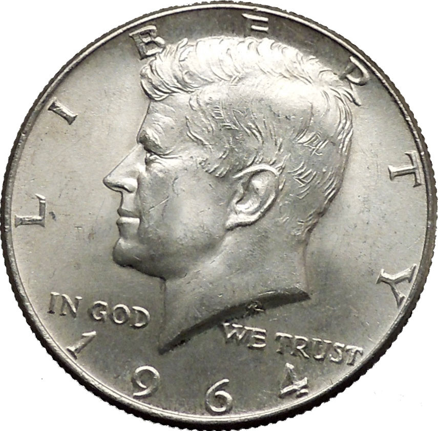 Awesome 1964 President John F Kennedy Silver Half Dollar United Kennedy 50 Cent Piece Value Of Great 41 Pics Kennedy 50 Cent Piece Value