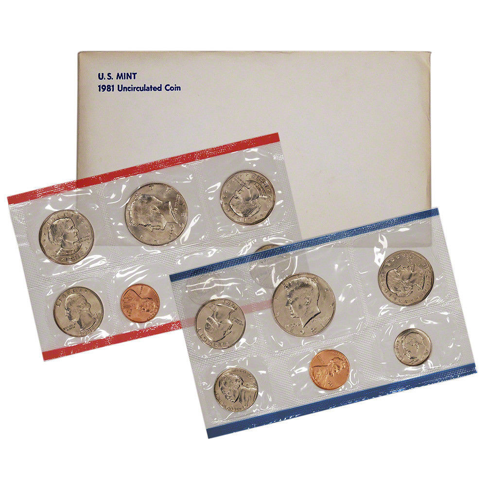 Awesome 1981 United States Mint Uncirculated Coin Set Us Mint Sets Of Marvelous 43 Ideas Us Mint Sets