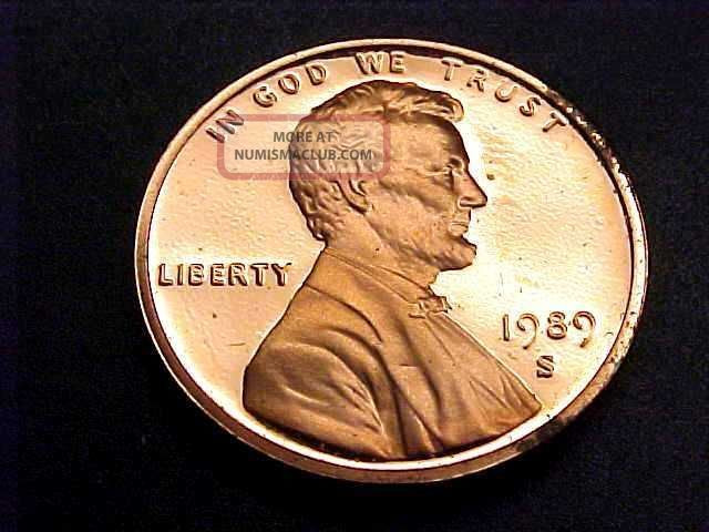1989 S Lincoln Head Cent Penny Proof Buy It Now Make fer