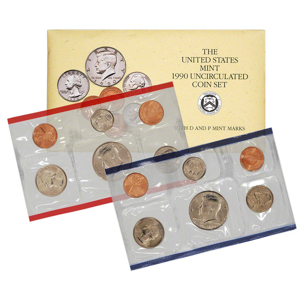Awesome 1990 United States Mint Uncirculated Coin Set U90 Us Mint Sets Of Marvelous 43 Ideas Us Mint Sets