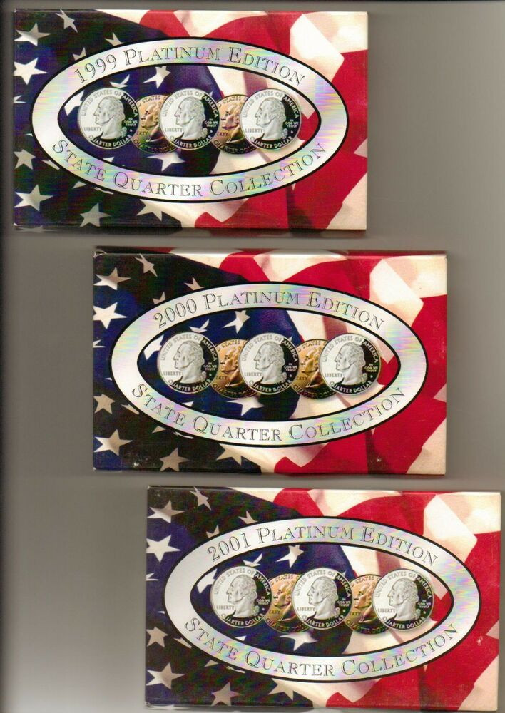 1999 2005 State Quarter Collection Platinum Edition 7 Sets