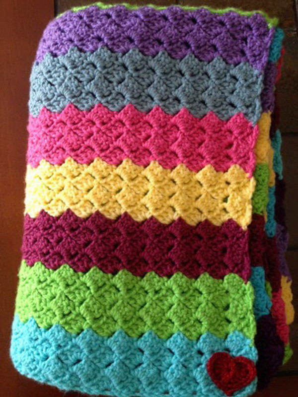 Awesome 20 Awesome Crochet Blankets with Tutorials and Patterns Crochet Sampler Afghan Of Attractive 47 Pictures Crochet Sampler Afghan