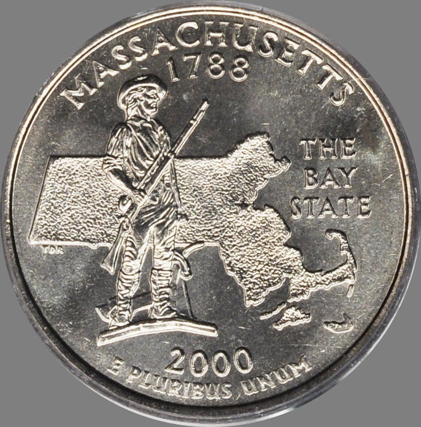 Awesome 2000 P & D Massachusetts State Quarters Gem Bu From Mint State Quarter Set Of Superb 44 Pictures State Quarter Set
