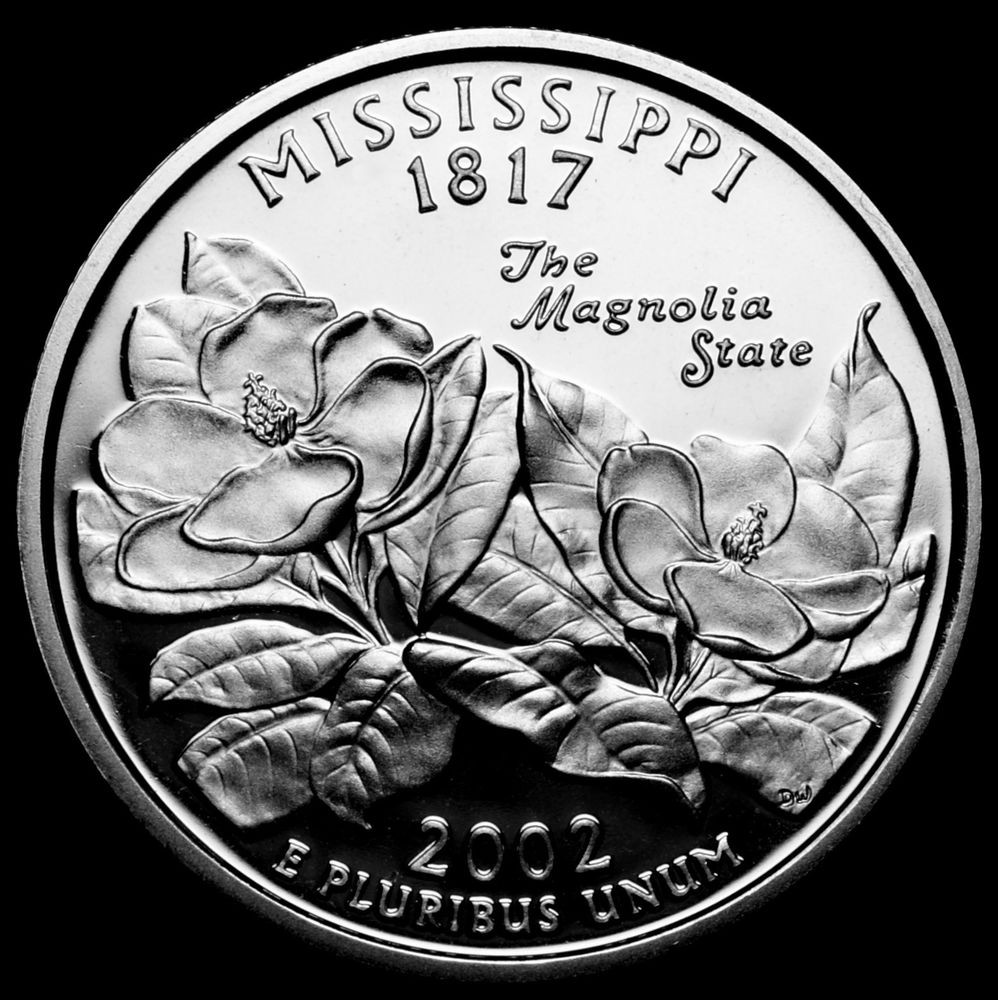 Awesome 2002 S Mississippi State Mint Silver Proof Statehood State Quarter Set Of Superb 44 Pictures State Quarter Set