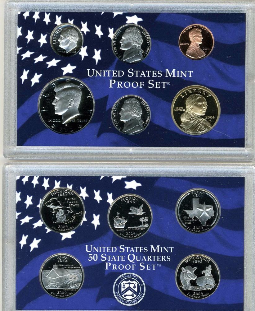 Awesome 2004 Us Mint Proof Set W 50 State Quarters & Coa Us State Quarter Collection Of Charming 49 Ideas Us State Quarter Collection