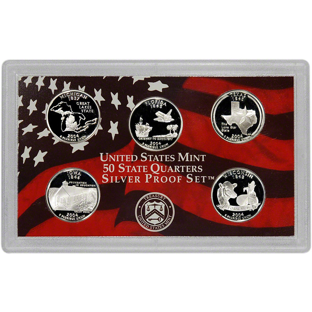 Awesome 2004 Us Mint Quarters Silver Proof Set State Quarter Set Value Of Luxury Mint Statehood Quarter Errors State Quarter Set Value