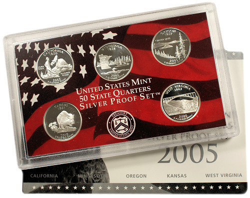 Awesome 2005 5 Coin Silver State Quarter Proof Set State Quarter Set Of Superb 44 Pictures State Quarter Set