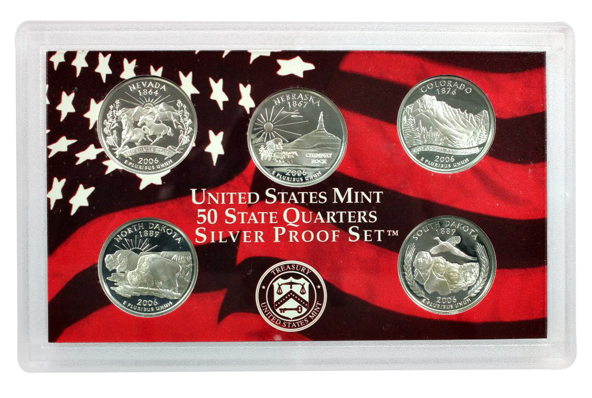 Awesome 2006 10 Coin United States Mint Silver Proof Set W Box State Quarter Proof Set Of Top 48 Images State Quarter Proof Set