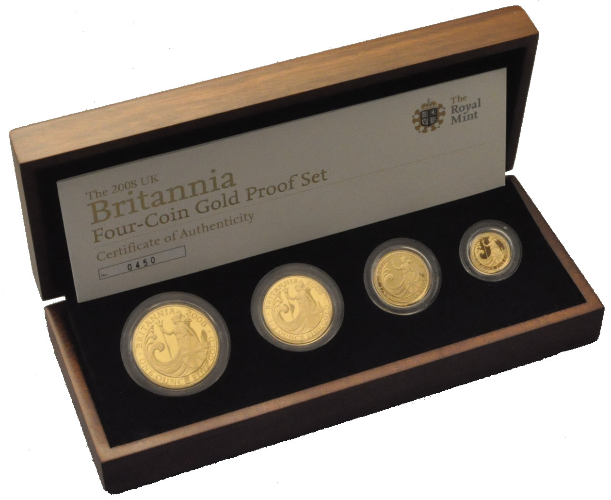 Awesome 2008 Proof Britannia Gold 4 Coin Boxed Set £2 520 Proof Sets Of Great 40 Photos Proof Sets