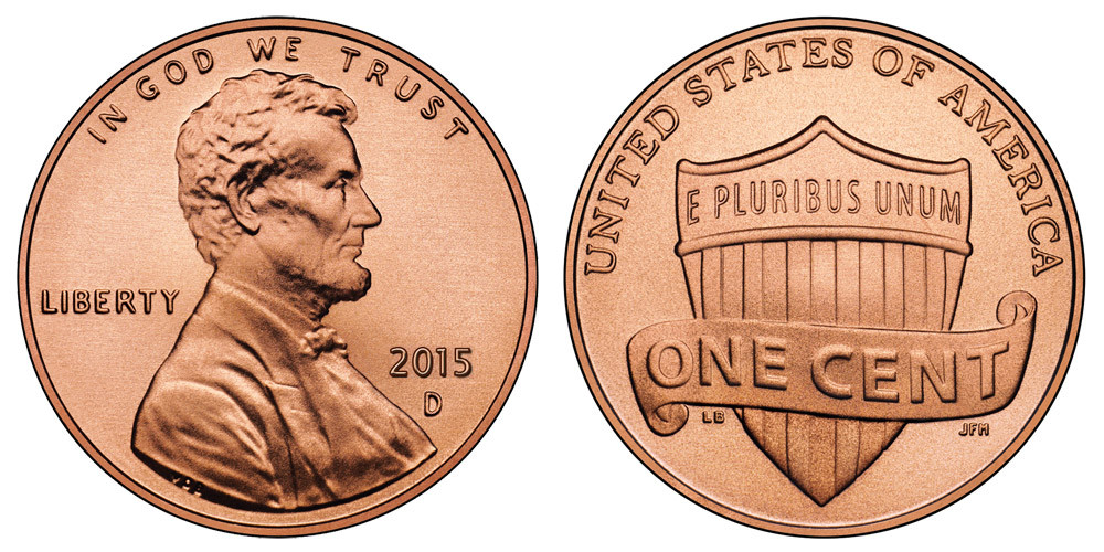 Awesome 2015 D Lincoln Shield Cent Copper Plated Zinc Penny Value Lincoln Cent Values Of Amazing 50 Images Lincoln Cent Values